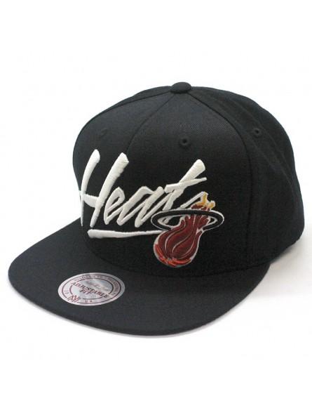 hot sale online 8a54c 7f2d7 Miami HEAT NBA Vice Script Mitchell & Ness Cap