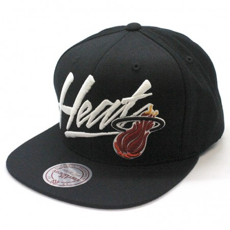 Gorra Miami HEAT NBA Vice Script Mitchell & Ness