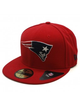 New England PATRIOTS 59FIFTY Team Reverse NFL New Era red Cap