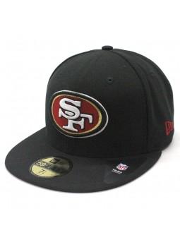 San Francisco 49ERS 59FIFTY Team Reverse NFL New Era black Cap