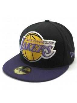 Gorra Los Angeles LAKERS 59FIFTY Mighty 2tone NBA New Era negro/lila