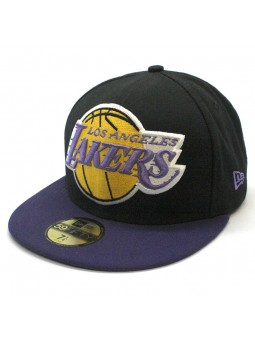 release date 6718e 596d4 Los Angeles LAKERS 59FIFTY Mighty 2tone NBA New Era black purple Cap