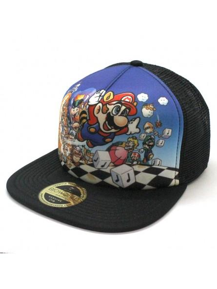 6dfce31ec Super Mario 3 Nintendo snapback trucker black Cap