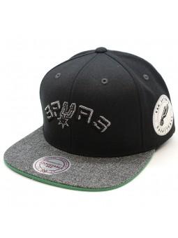 San Antonio Spurs Intl245 Mitchell & Ness black snapback Cap
