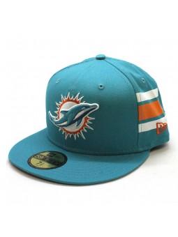 Miami Dolpins NFL Team Stripe 59fifty New Era turquoise Cap