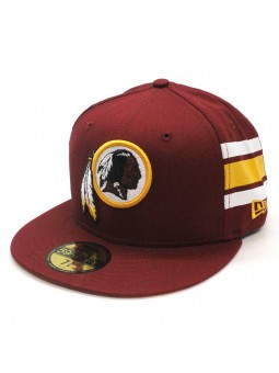 Washington Redskins NFL Team Stripe 59fifty New Era burgundy Cap