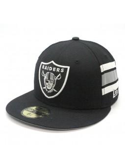 Oakland Raiders NFL Team Stripe 59fifty New Era black Cap