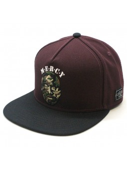 Gorra Cayler and Sons Mercy snapback burdeos
