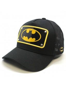 Gorra Placa de Batman Liga de la Justicia Capslab trucker negro