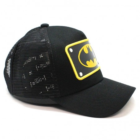 Batman Plate Justice League Capslab black trucker Cap