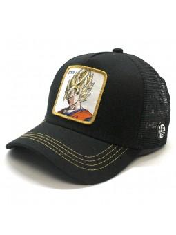 Gorra Son Goku Saiyan trucker negro Capslab