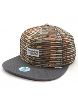 DJINNS Snapback HFT WLU Crazy Stripes grey cap
