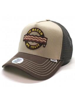 DJINNS Trucker HFT Food BACON camel/brown cap