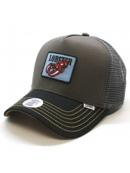 DJINNS Trucker HFT Food Lobster dark grey/black cap