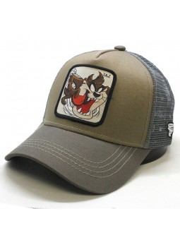 TAZ Looney Tunes khaki/grey Trucker Cap
