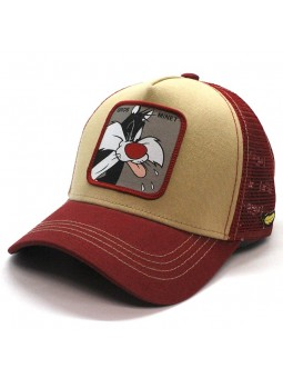 SYLVERSTER THE CAT Looney Tunes camel/red Trucker Cap