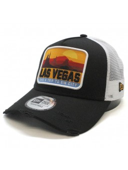 Las Vegas Patch New Era black trucker Cap