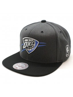 Gorra Oklahoma City Thunder NBA EU944 Mitchell and Ness snapback gris