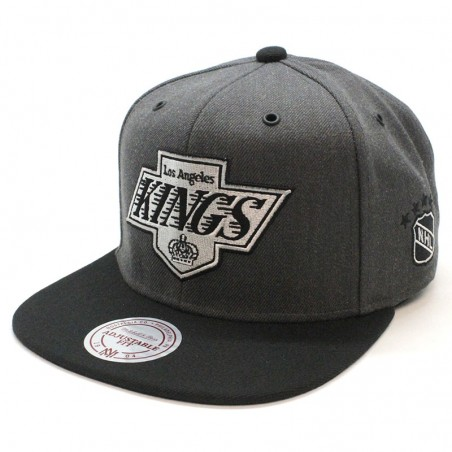 Gorra snapback Los Angeles Kings NHL EU944 Mitchell and Ness gris