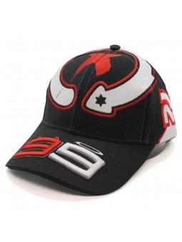 Gorra Jorge Lorenzo 99 X MotoGP negro blanco