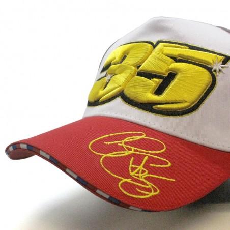 Gorra Cal CRUTCHLOW 35 MotoGP blanco rojo