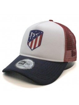 Gorra de rejilla Atlético de MADRID new era banco/rojo/marino