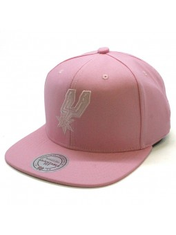 Spurs NBA Italian Wash Mitchell and Ness pink Cap