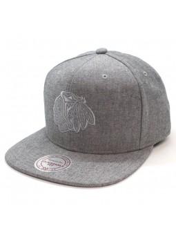 Gorra Chicago Blackhawks NHL Italian Wash Mitchell and Ness gris