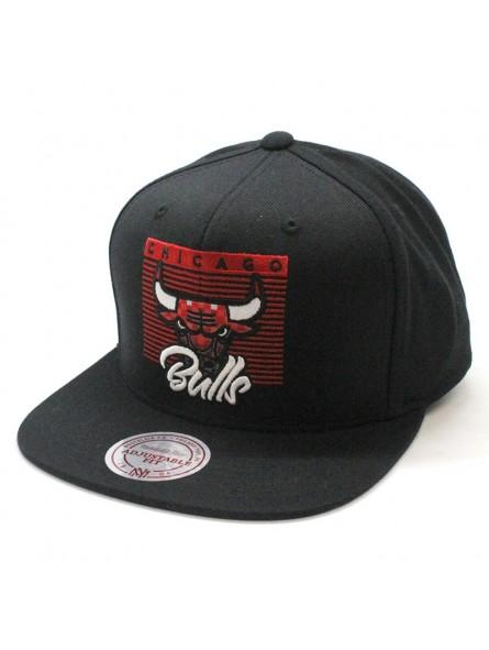Chicago Bulls NBA VV27Z Mitchell and Ness black snapback Cap