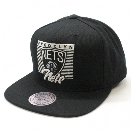 Brooklyn Nets NBA VV27Z Mitchell and Ness black snapback Cap