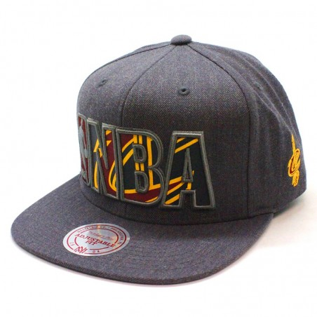 Cleveland Cavaliers NBA Insider Mitchell and Ness gray snapback Cap