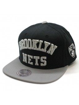 Brooklyn Nets NBA Wordmark Jersey Mitchell and Ness Cap