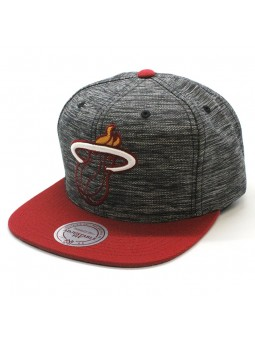 Miami Heat NBA Intl 006 Mitchell and Ness gray red Cap