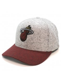 Miami Heat NBA 308 Mitchell and Ness white burgundy Cap