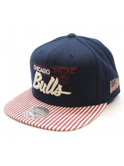 OG USA Chicago Bulls Mitchell and Ness snapback navy Cap