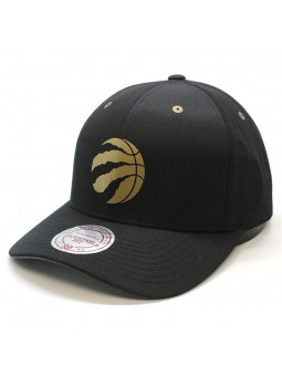 Gorra Toronto Raptors Poly Lo Pro Mitchell and Ness negro