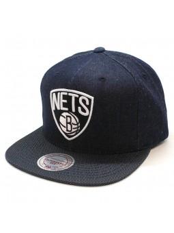 Brooklyn Nets NBA R. Denim Mitchell and Ness denim cap