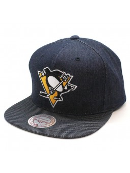 Pittsburgh Penguins NHL R. Denim Mitchell and Ness Texan Cap