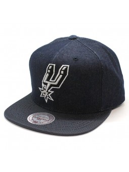 Gorra Spurs NBA R. Denim Mitchell and Ness tejano