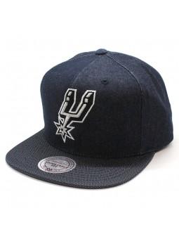 Spurs NBA R. Denim Mitchell and Ness denim cap
