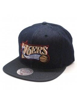 Gorra Philadelphia 76ERS NBA R. Denim Mitchell and Ness tejano