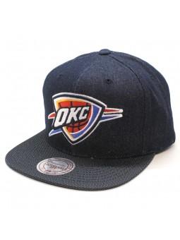 Oklahoma City Thunder NBA R. Denim Mitchell and Ness denim cap