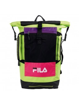 FILA Backpack FROSTED Rolltop black-acid lime
