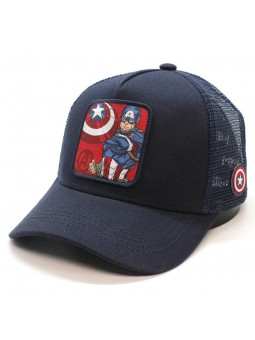 Captain America Marvel navy blue trucker Capslab Cap