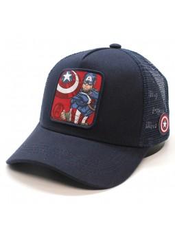 Gorra Capitan America Marvel azul marino trucker Capslab