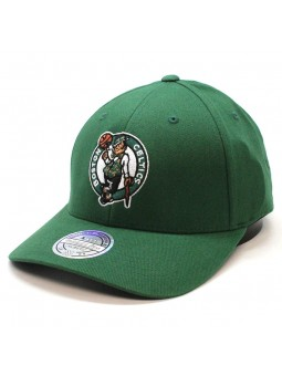 Boston Celtics NBA Intl 228 Green Mitchell and Ness Cap