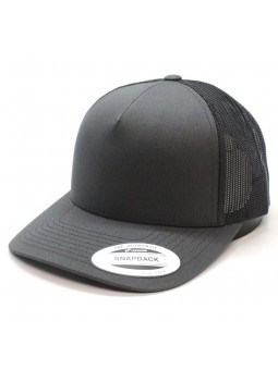 Gorra FLEXFIT 5-PANEL Retro Trucker 6506 gris oscuro