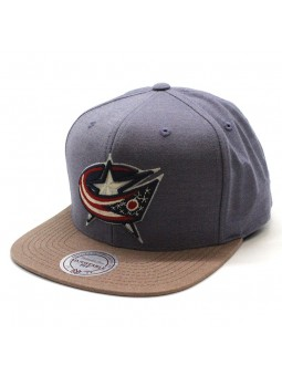 Columbus Blue Jackets NHL Heather Profile Mitchell and Ness Cap