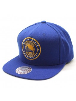 Warriors Twill Circle NBA Mitchell and Ness snapback royal blue cap