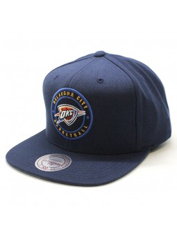 Oklahoma City Thunder NBA Twill Circle Mitchell and Ness cap